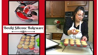 "Join Amy for an unboxing, test, and review of the Boxiki Silicone Bakeware. This is the Silicone Bundt Pan, the Silicone Muffin Pan, and the Springform Pan from Boxiki. This silicone bakeware has a metal frame which makes it easy to remove from the oven. This bakeware is nonstick and your baked goods will side out very easily. Amy baked some cupcakes in the muffin pan and they popped right out!Amy Learns to Cook is all about learning to make simple, tasty food from fresh ingredients.  One year ago, I made a commitment to stop eating processed convenience foods.  I decided to learn to cook ""real"" food. Join me!  Let's learn to cook together! Enjoy! Please share! Boxiki Silicone Bundt Pan:http://amzn.to/2rKc5Q1Boxiki Silicone Muffin Panhttp://amzn.to/2r7SIh1Boxiki Springform Pan:http://amzn.to/2rsGse2Boxiki Silicone Bakeware Set:http://amzn.to/2qqSnosBoxiki Non-Stick Silicone Bakeware Set Test & Review:https://youtu.be/xV9iY1C6rs0Please SUBSCRIBE to my channel, LIKE, and leave a COMMENT.Please visit my website: www.amylearnstocook.comAny links in this description, including Amazon, are affiliate links.I received this product free of charge in exchange for my honest review. Honey Bee by Kevin MacLeod is licensed under a Creative Commons Attribution license (https://creativecommons.org/licenses/by/4.0/)Source: http://incompetech.com/music/royalty-free/index.html?isrc=USUAN1100755Artist: http://incompetech.com/"