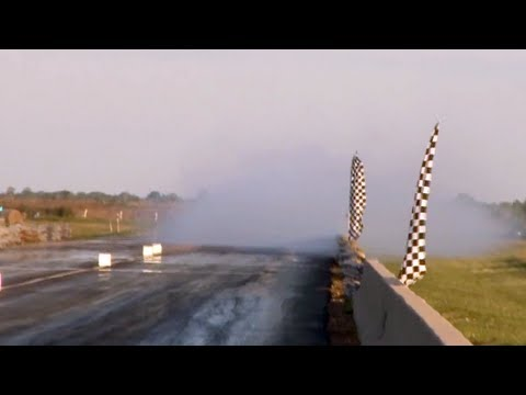 Procharged Pontiac V8 gets abused at the strip