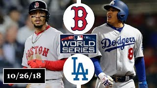 Boston Red Sox vs Los Angeles Dodgers Highlights || World Series Game 3 || October 26, 2018