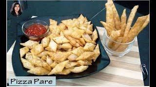 Crispy Pizza Pare Recipe by Raksha l kids Recipe l Cheese Pizza Namakpare