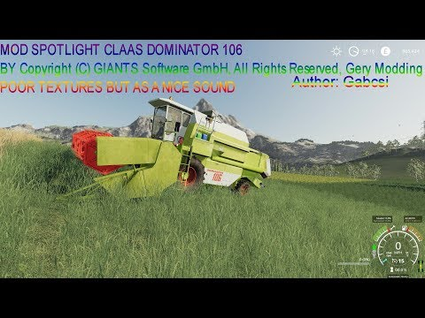 Claas Dominator 106 v1.0.0.3