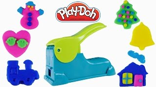 PLAY DOH Mega Fun Factory 40+ Pieces Playdough Molds Create Playdoh Christmas Decorations by DCTC