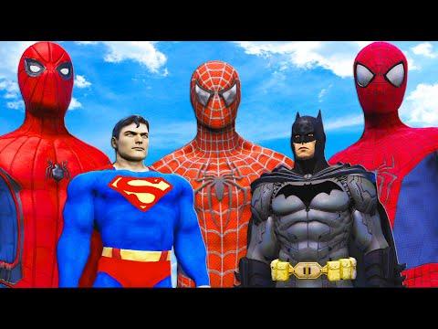 BATMAN and SUPERMAN vs SPIDER-VERSE (Spider-Man 2002, Amazing Spider-Man, Spider-Man MCU)