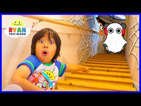 Ryan Exploring our secret spooky attic!!! What's Inside???