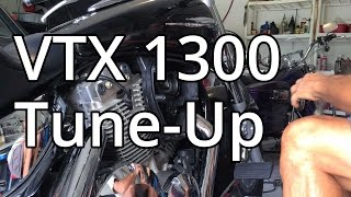 10. How To: Honda VTX 1300 Tune Up ,Spark Plugs And Air Filter