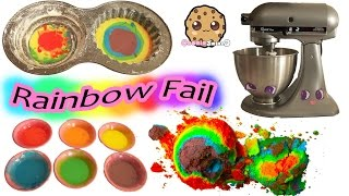Giant Rainbow Cupcake Fail - Baking My Little Pony Rainbow Dash Birthday Cake
