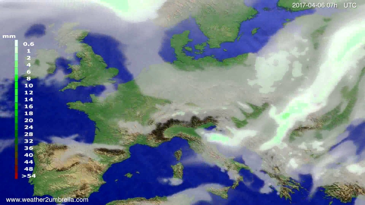 Precipitation forecast Europe 2017-04-02