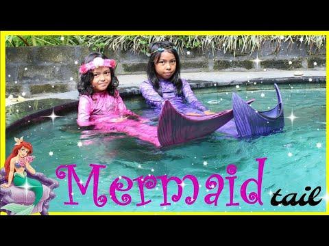 DONGENG PUTRI DUYUNG DAN TONGKAT AJAIB ♥ Live Mermaids in our pool