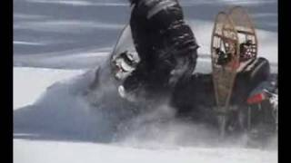 2. Skandic SUV  Skidoo in 4 feet of powder Skandic