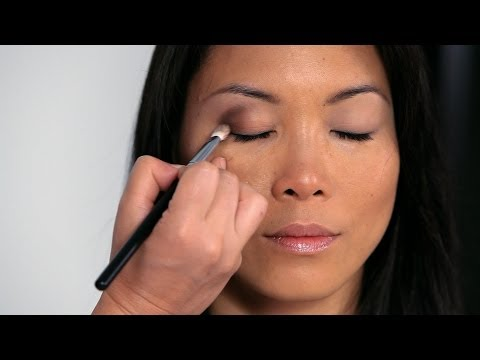 how to - Watch more How to Do Asian Makeup videos: http://www.howcast.com/videos/504799-How-to-Go-from-Day-to-Night-Asian-Makeup Learn a trick for creating double eye...