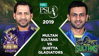 Match 22: Full Match Highlights Multan Sultans Vs Quetta Gladiators | HBL PSL 4 | HBL PSL 2019