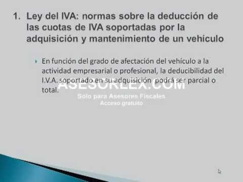 La deducción de los vehículos en el IVA y en el IS-IRPF