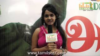 Sahana Speaks at Athiradi Movie Audio Launch