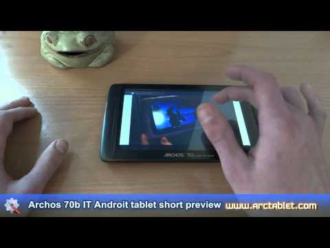 Archos 70b IT tablet (TI OMAP3, Android 3.2, 7″ capacitive) short preview