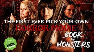 "BOOK OF MONSTERS -You Choose the Monsters and the Gory Deaths in Horror Feature Film. Take a peek at the BOOK OF MONSTERS Kickstarter https://goo.gl/XUqsFGSix kickass women must fight off a horde of terrifying monsters at an 18th birthday party in 'Book of Monsters', the second horror feature film from Dark Rift Films.Book of Monsters is a female lead, action packed monster movie drawing inspiration from the cult horror cinema of the 80s and 90s including Scream, Gremlins and Buffy The Vampire Slayer. With sick, gory practical creature effects and a dark comedic edge, the film will be a fun, bloody and sexy trip back to a time when making it through high school was truly life or death. The film is seeking funding through Kickstarter and the trailer promises a unique opportunity for horror fans in which backers can decide on major story elements of the film. From choosing what Monsters will appear in the movie, to deciding a character's gruesome death, the filmmakers want you to influence how the film is going to play out. In addition, everyone who pledges to the campaign gets a story credit on the end credits of the movie.synopsis: ""Sophie's 18th birthday party becomes a bloodbath when six terrifying monsters descend upon her house, intent on devouring the party guests and killing anyone who tries to leave. As her school friends are torn apart and eaten, Sophie must rally a band of misfits and take up arms to send their party crashers back to hell. In order to survive the night, Sophie will face her destiny; monsters are real - and she's the only one who can stop them."" Book of Monsters is funding on Kickstarter until the 3rd August and features a cast full of strong, kickass women including Lyndsey Craine, Michaela Longden, Lizzie Stanton, Anna Dawson and Steph Mossman. Also starring is horror legend Nicholas Vince as Jonas, famous for his roles as the Chatterer in Clive Barker's Hellraiser & Hellbound: Hellaiser II as well as Kinski in Nightbreed.This is the second feature film by director Stewart Sparke and writer Paul Butler, whose previous film 'The Creature Below' premiered at London Frightfest in 2016 and has since been released on DVD & VOD around the world.To make your mark on the Book of Monsters story, head over to the Kickstarter Campaign page.  https://goo.gl/XUqsFG"