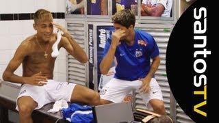 Os argentinos do Peixe mostraram toda sua desenvoltura e ensinaram Neymar a dançar a Cúmbia. Confira como foi a aula!