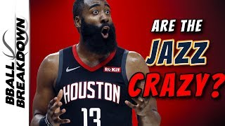 Are The Jazz Crazy For Guarding Harden This Way? by BBallBreakdown