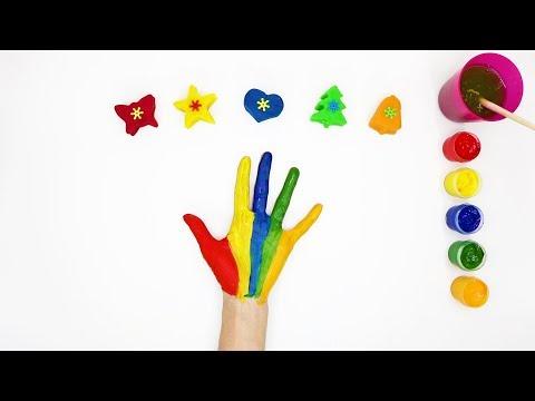 Пальчиковые краски Учим цвета Плей до Песня семья пальчиков learn the colors (видео)