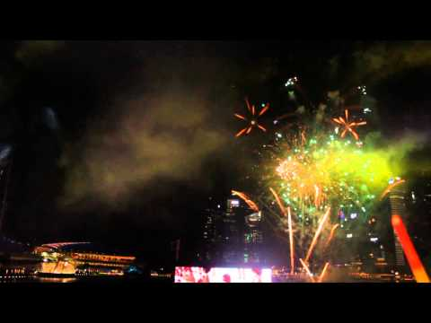 SinGaGaPawVEVO - Singapore's 48th Birthday- Fireworks and National Anthem- Preview 3rd August 2013 view from Blue Sector.