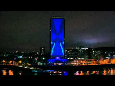 millbank tower - [Click Show More for Track List] Footage of the live set performed at Millbank Tower in London by Deadmau5 on the 28th of November. Extremely awesome visuals...