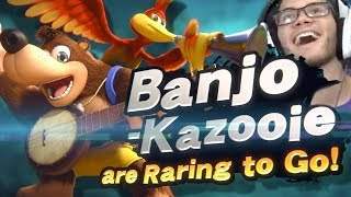 BANJO-KAZOOIE ARE IN SMASH ULTIMATE!!! Live Reaction!