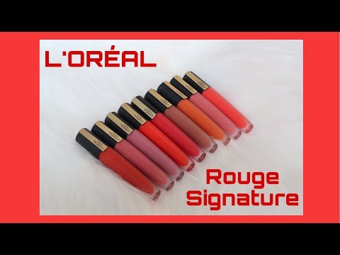 [REVIEW & SWATCH] L'ORÉAL ROUGE SIGNATURE MATTE COLOR INK | SON KEM CỰC NHẸ MÔI | kieuchinh2706 - Thời lượng: 6:42.