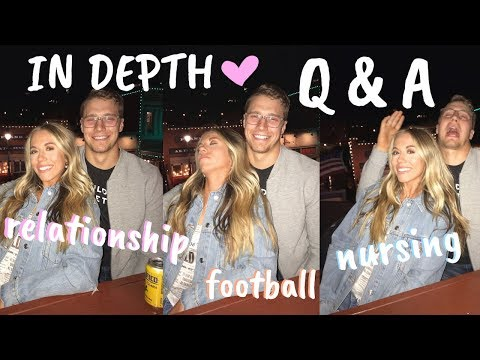 ALL THINGS RELATIONSHIPS, NURSING, FOOTBALL & FITNESS | IN DEPTH Q&A | Maddie Woods and Ryan Moeller