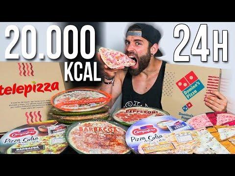 24 HORAS COMIENDO PIZZA  20.000 KCAL EN PIZZAS