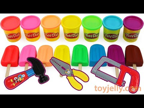 Learn Colors Play Doh Popsicle Ice Cream Molds Kinder Surprise Eggs Baby Toys Kids Nursery Rhymes