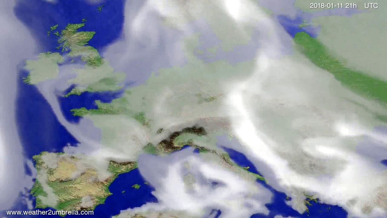 Cloud forecast Europe 2018-01-08