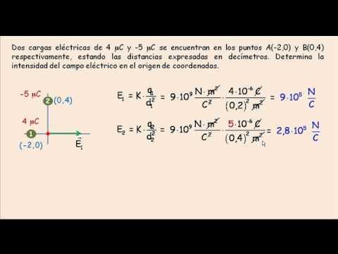 Campo eléctrico: Principio de Superposición