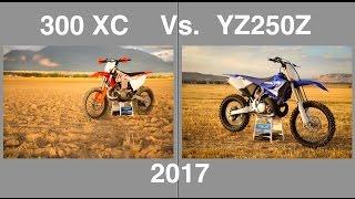 9. 2017 KTM 300 XC vs 2017 Yamaha YZ250X part 1 - Episode 199