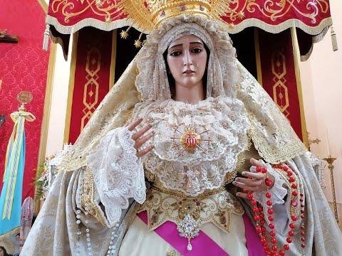 Exposición ante fieles y devotos de Nuestra Señora de las Mercedes de Isla Cristina.