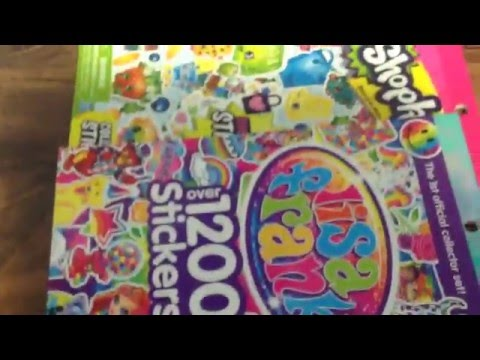 Lisa Frank's and Shopkins Stickers Review