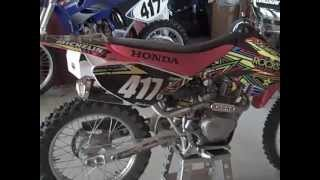 9. honda crf 100 walk around/start up!