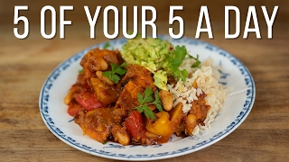 Sweet Potato & White Bean Chilli | 5 a Day Dish by Jamie Oliver