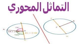 الرياضيات السادسة إبتدائي - التماثل المحوري تمرين 2