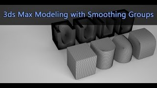 In this video we will see how we can model in 3ds Max by using the smoothing groups option. Original Post at: