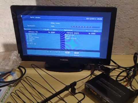 подключение цифровой приставки DVB-T2 Сигнал HD-200 в Омске