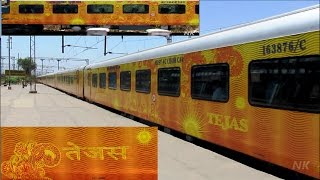 TEJAS EXPRESS , OVERTAKE and PARALLEL ACTION - Indian Railways !!