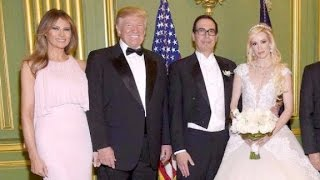 President Donald Trump and First Lady Melania Trump were among the throng of Washington power players attending Treasury Secretary Steve Mnuchin's ...