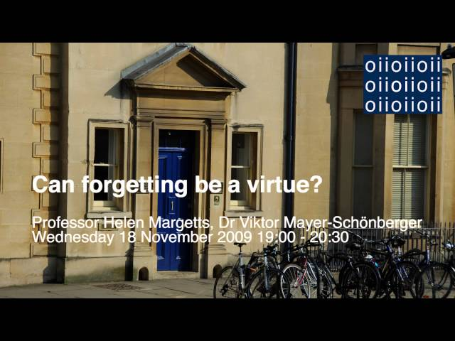 The Virtue of Forgetting