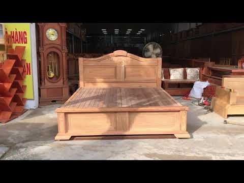 Giường ngủ gỗ Gõ Đỏ cao cấp 100%