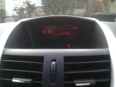 comment regler l'heure dans une 207