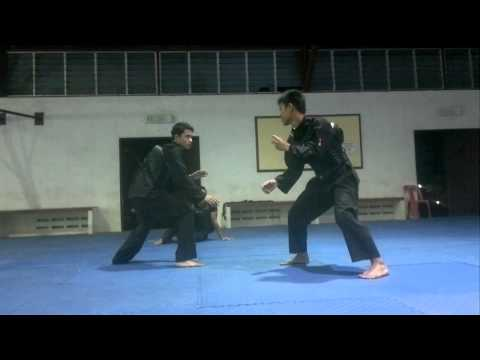 Silat olahraga : training time. Lan ,aim dan safri