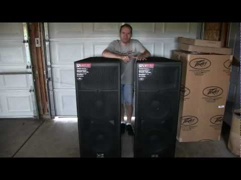 Peavey - Unboxing of a pair Peavey SP4 BX's. Enjoy! Rate, Comment, & Subscribe. Thanks. Link: http://www.guitarcenter.com/Peavey-SP-4BX-3-Way-Passive-PA-Speaker-Cabin...