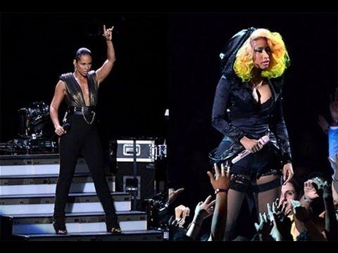 Nicki Minaj 2012  on Nicki Minaj Alicia Keys Perform Girl O