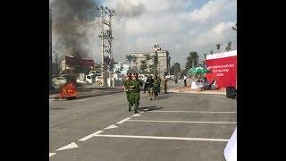 Diễn tập phương án chữa cháy và cứu nạn cứu hộ tại Trung tâm thương mại Vincom+
