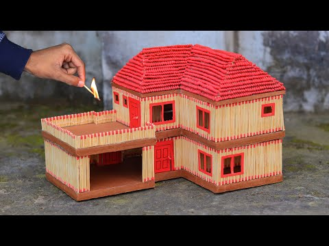 How to Make a Matchstick House | PUBG Squad House | Match House Fire