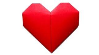 Сердце из бумаги. Оригами сердечко